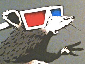 Rat, de Banksy, una de las obras a la venta. (Detalle)