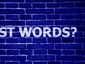 ¿De verdad son solo palabras?