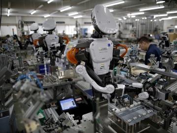 Robots en una fábrica