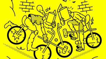 En los típicos talleres sobre creatividad en los que se habla de pensamiento lateral siempre se explica que hay que confrontar dos ideas que aparentemente no conectan o pertenecen a dos mundos teóricamente lejanos. Lo que los coachs y demás especialistas de la autoayuda no saben es que para las editoras e ilustradores independientes este tipo de asociaciones son tan fáciles de hallar como el bocata de calamares en Madrid. ¿Bike-Polo y Comics? Atiende.