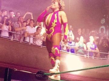 Cassandro, en un cuadrilátero de lucha libre