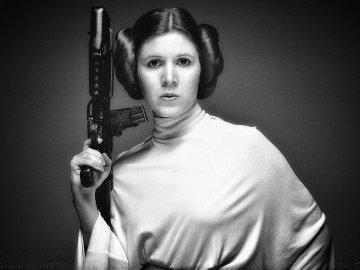 La princesa Leia es un símbolo de Star Wars.
