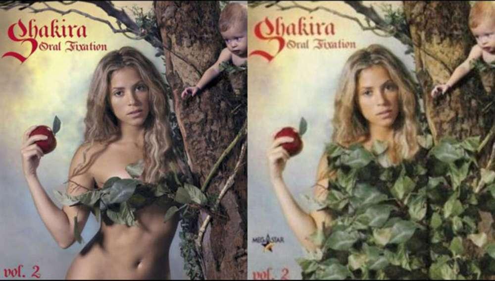 Censura en la portada de 'Oral Fixation: Vol. 2', de Shakira