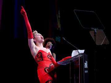 Miley Cyrus, durante un concierto
