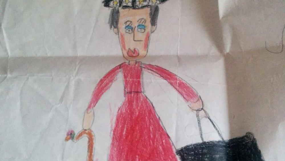 Mi dibujo de Mary Poppins cuando tenía 5 años